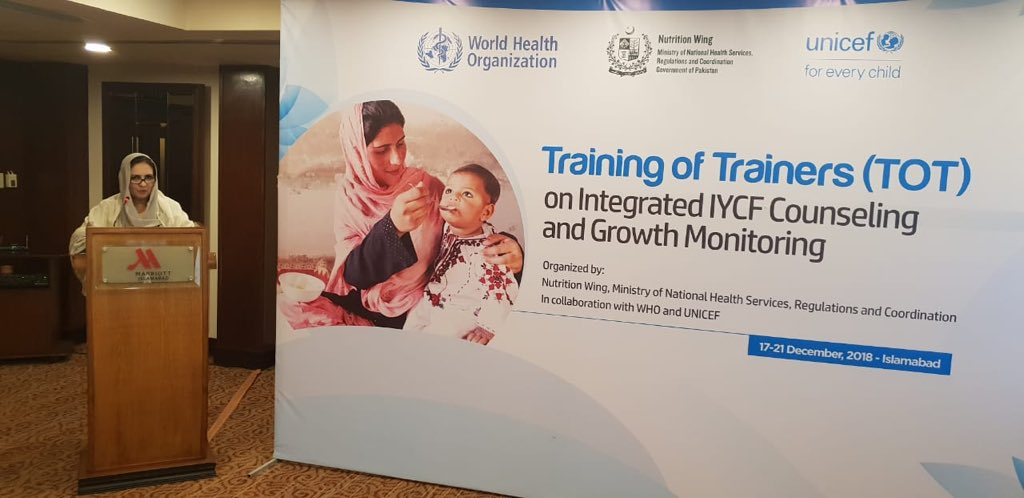Master trainers for promotion of Exclusive breastfeeding practices