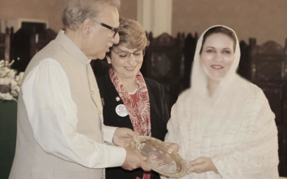 Received Shield from President for contribution in TB free Pakistan Initiative