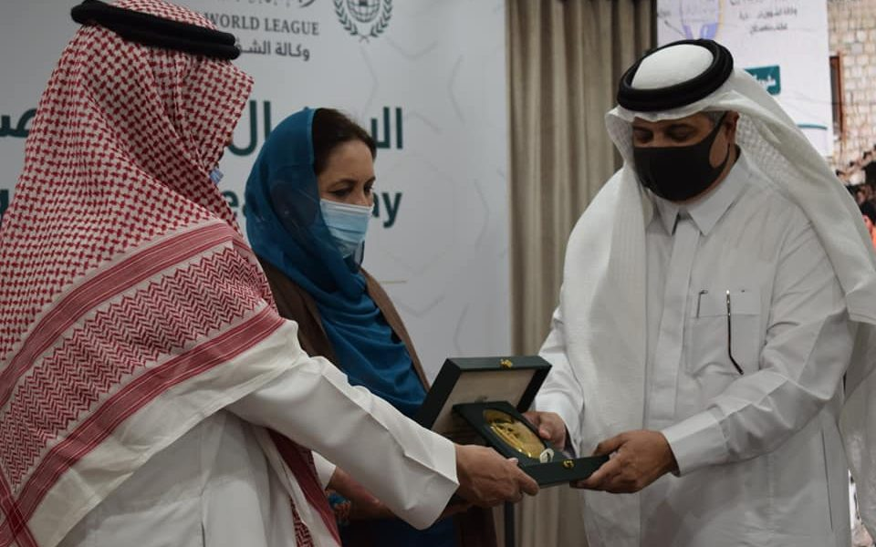 It is an honor to receive a shield by Saudi Ambassador